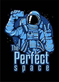 宇宙飛行士の自撮り