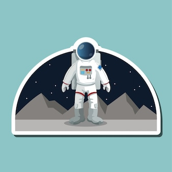 Astronaut sign. space concept. cosmos, vector illustration