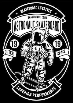 Астронавт скейтборд