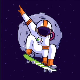 Astronaut skater in space