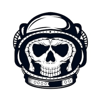 Astronaut skull vector coloring page coloring book