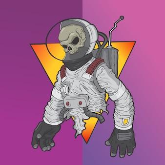 宇宙飛行士の頭蓋骨