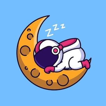月面で眠っている宇宙飛行士