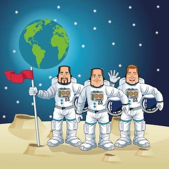 宇宙飛行士の漫画