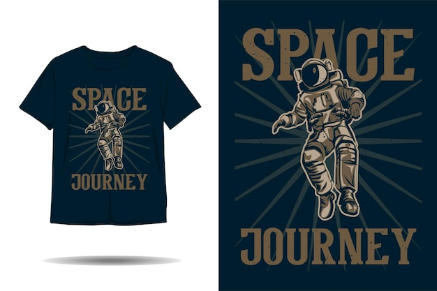 宇宙飛行士宇宙旅行シルエットtシャツデザイン