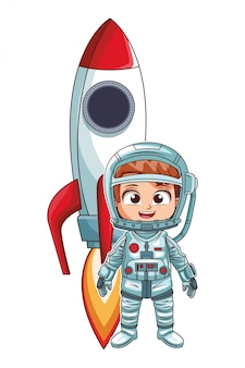 Astronaut stand up girl