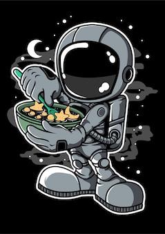 Астронавт звездные хлопья мультипликационный персонаж