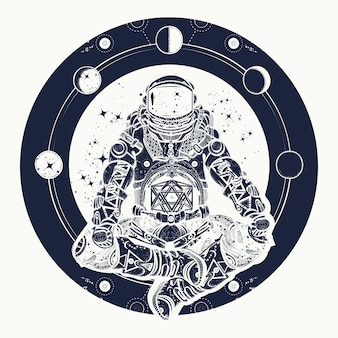 Astronaut and universe