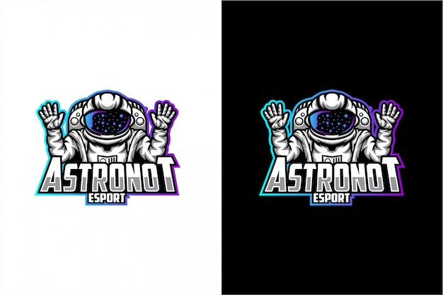 Astronaut vector logo