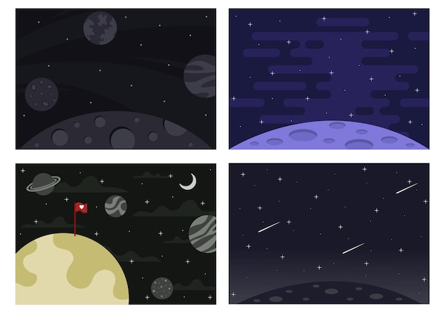 Astronaut with rocket for explore in outer space background illustration
