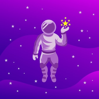 Astronaut with the stars