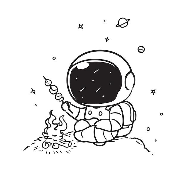 Astronauts burn meat in space