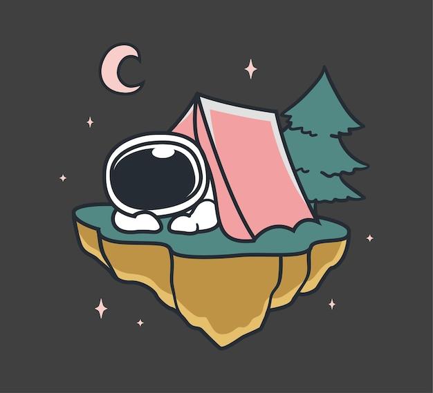 宇宙飛行士が宇宙でキャンプ