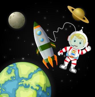Астронавты, исследующие галактику