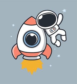 宇宙飛行士も気球やプレゼントを持って飛ぶ