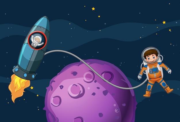 우주 비행사 우주 비행