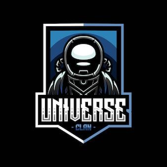 Талисман космонавтов для логотипа киберспорта и спортивной команды