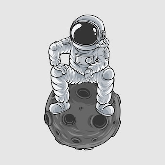 Astronauts master of the moon