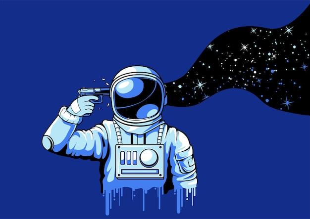 압력을 받고있는 우주 비행사