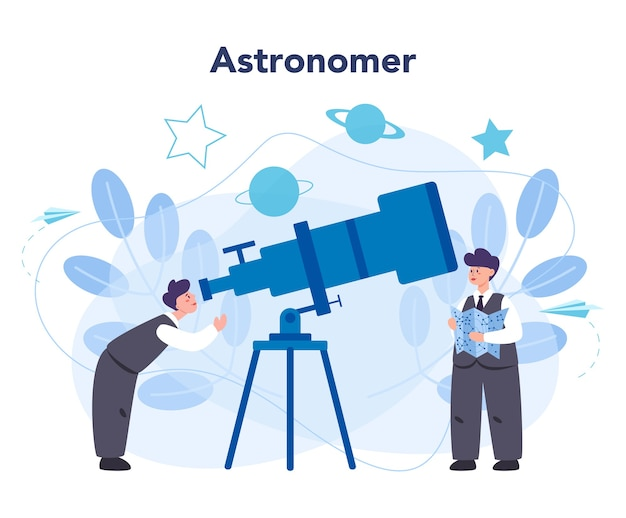 Astronomy and astronomer concept