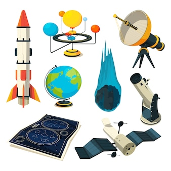Astronomy elements and pictures