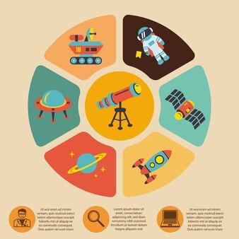 Астрономия инфографики шаблон