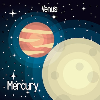 Astronomy mercury system solar planets isolated