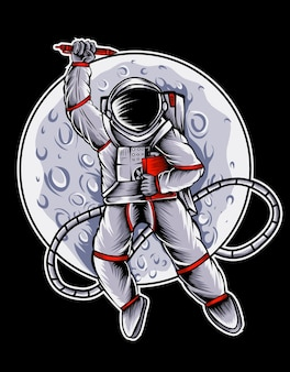 달의 astronout