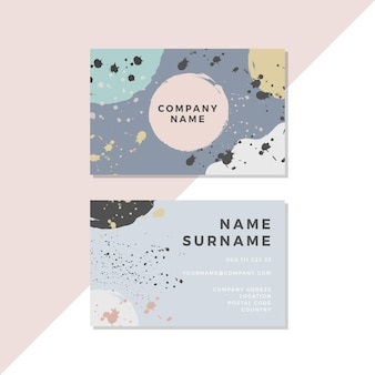 Asymmetrical dots hand painted business cards
