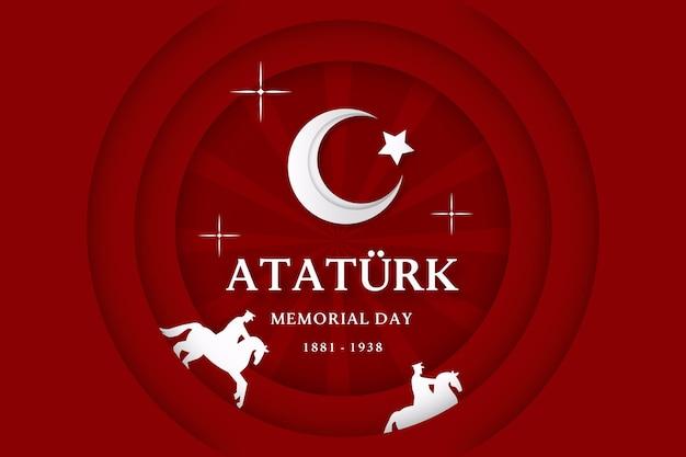 평면 디자인의 아타튀르크 기념일