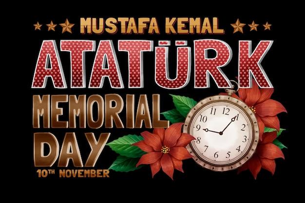 Ataturk memorial day lettering