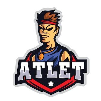 Athlete e sports logo