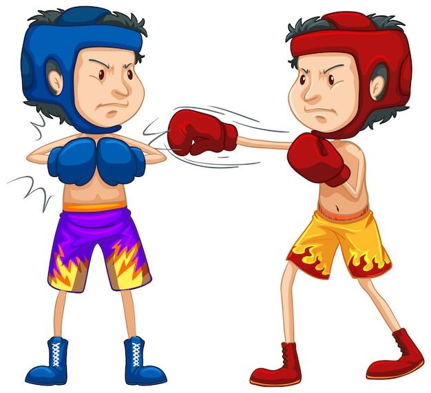 白のボクシングを行う選手
