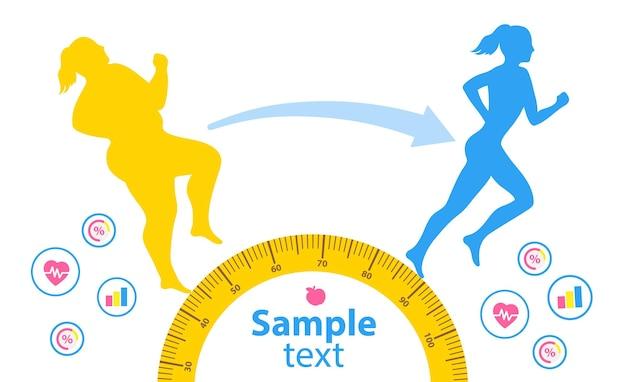Спортивная (ый) молодая девушка в спортивной одежде делает упражнения на беговой дорожке. потеря веса.