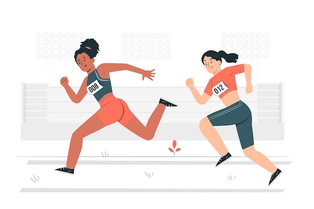Illustrazione del concetto di atletica leggera