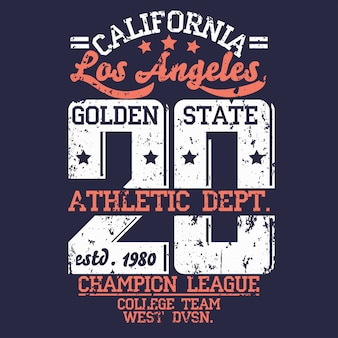 Athletics lettering in grunge style