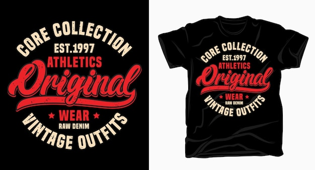 Атлетика оригинальный винтажный дизайн типографии для футболки