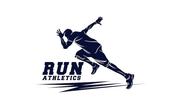 Athletics. running man. sport emblem