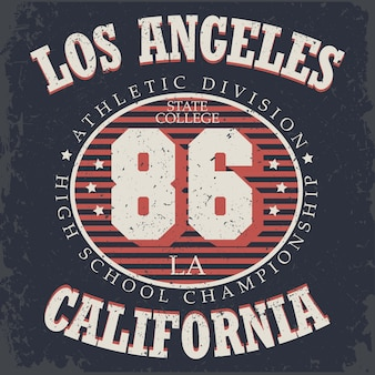 Athletics typography, california t-shirt graphics, vintage sport wear tee print design