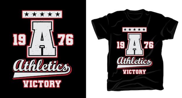 Типография университета победы легкой атлетики для дизайна футболки