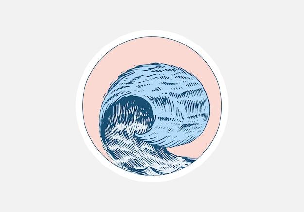Атлантические приливные волны и красное солнце