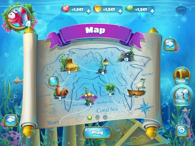 Atlantis ruins playing field illustration Premium Vector