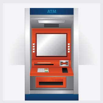 Atm automatic teller machine with atm card