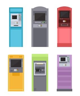 지불 일러스트레이션을위한 atm 은행 기계