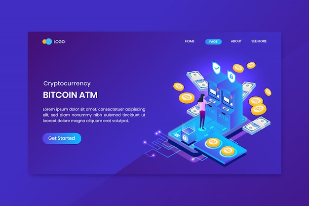 Atm bitcoin analysis landing page template