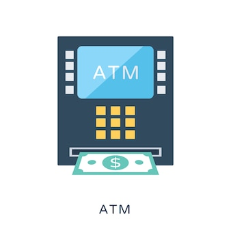 Atm flat vector icon