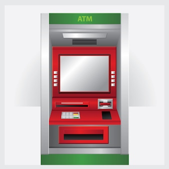 Atm. vector illustration automatic teller machine