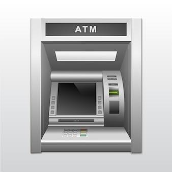 孤立したatm銀行の現金自動支払機
