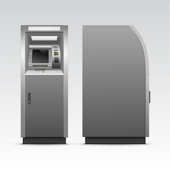 背景に分離されたatm銀行の現金自動支払機