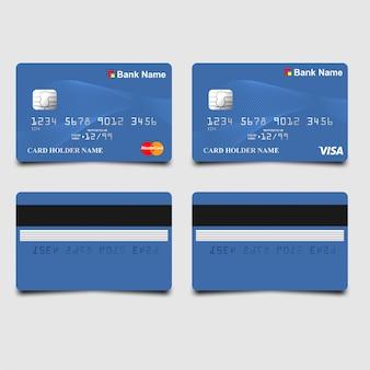 エレガントな青色のatmカード